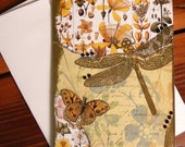 Golden Dragonfly Collage Card