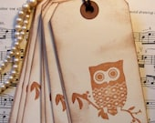 Owl Gift Tags - Set of 10