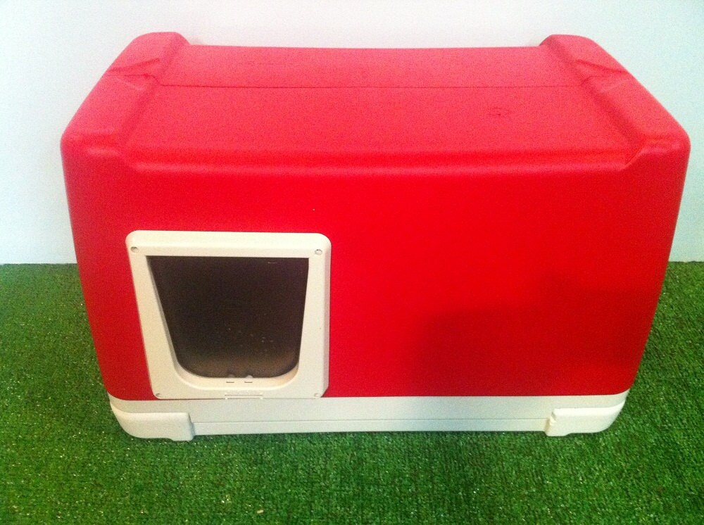 Cat House Made From A Cooler : Outdoor cat house pod by stabob on etsy