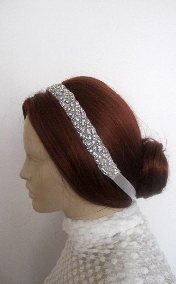 Rhinestone Beaded Bridal  Head band  Wedding Accessories Crystal Headpiece Head Piece