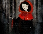 Little Red and the Wolf 81/100 - Deluxe Edition Print