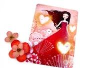 Heart Lanterns - Postcard