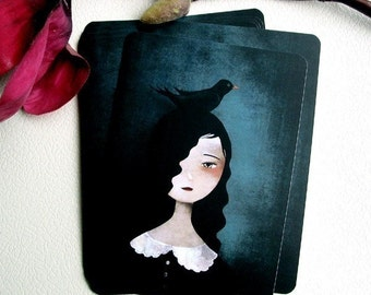 Blackbird - Postcard