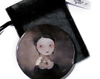 Portrait at the White Rat - Pocket Mirror