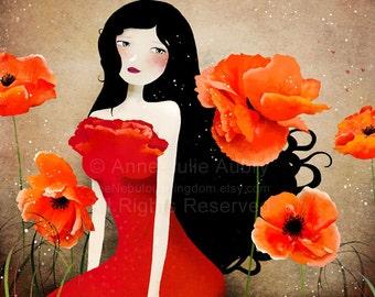 Orange Poppies - Deluxe Edition Print