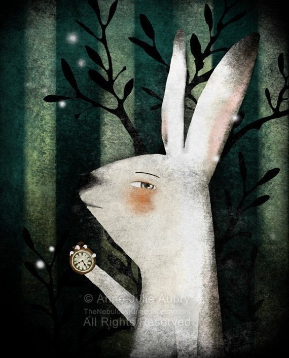 The White Rabbit (Alice in Wonderland) - open edition print