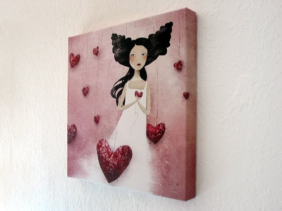 Some Hearts Wander - Canvas Print - 16x16inch