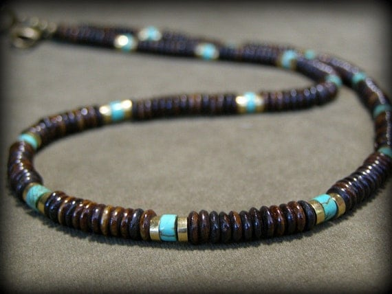 items similar to mens necklace turquoise necklace choker