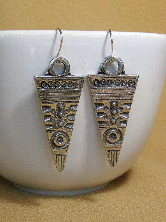 Native Earrings, Tribal Earrings, Bohemian Earrings, African  Earrings , Southwest Jewelry, Geometric Triangle, Ethnic Earrings, Boho Style