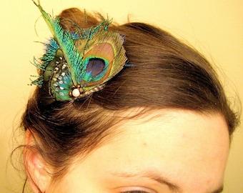 Joss Feather Hair Clip, bridesmaids