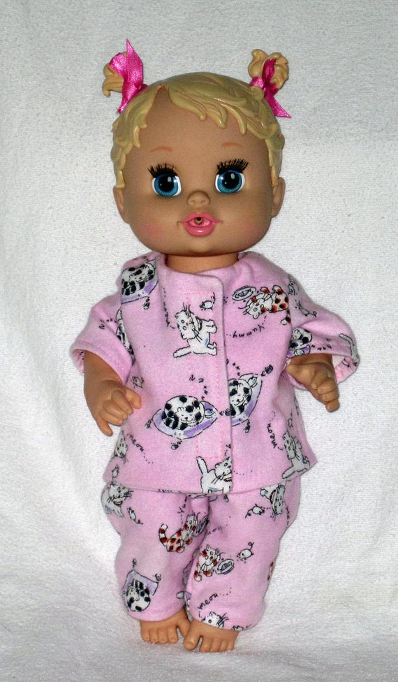 Baby alive pink kitty cat pajamas fits 12 13 inch baby doll