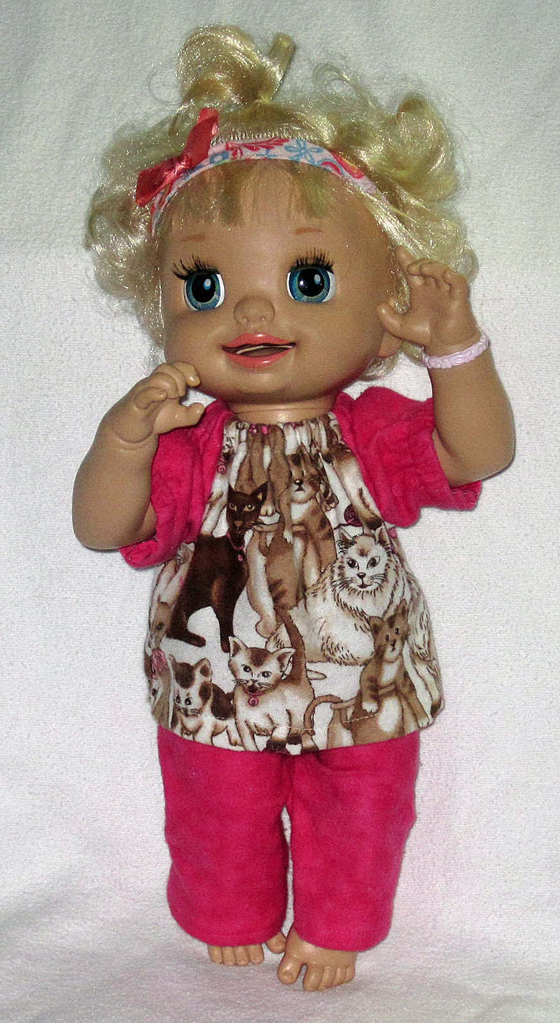 My Baby Alive Doll Clothes Chocolate Cats and by Dakocreations