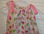 Valentine's Day Pink Hearts and Polka Dots Pillowcase Dress Forever Dress 3-6 months --Ready to Ship Same Day--
