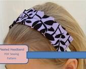 Pleated Headband PDF Sewing Pattern