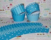 Sky Blue Cupcake Wrappers