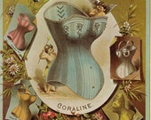 Vintage Print. Warner Brothers Corsets. Ready to Frame. (No. 104)