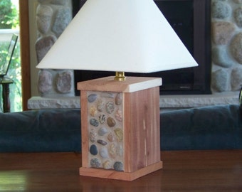 Cedar and Stone Desk or Table Lamp