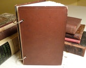 Holding History Journal Recycled from 1875 Antique Book