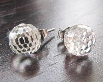 Fireball Stud Earrings Crystal Sparkly Ball