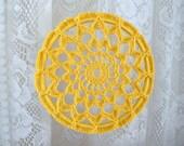 Crochet Ornament -- Golden Yellow Sunflower