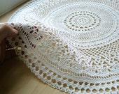 Crochet Doily -- Gossamer, in White