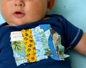 baby onesie - little quilt - navy