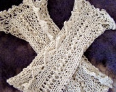 lace knitted fingerless gloves
