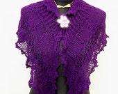 pdf KNITTING PATTERN shawl VIOLETTA