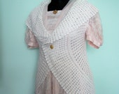 vest edwardian style made from recycled crocheted white lace