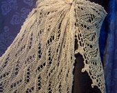 SALE 10% off - knitted stole for a bride