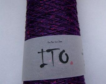 Lace yarn KINU prune pure silk from ITO yarns 50g