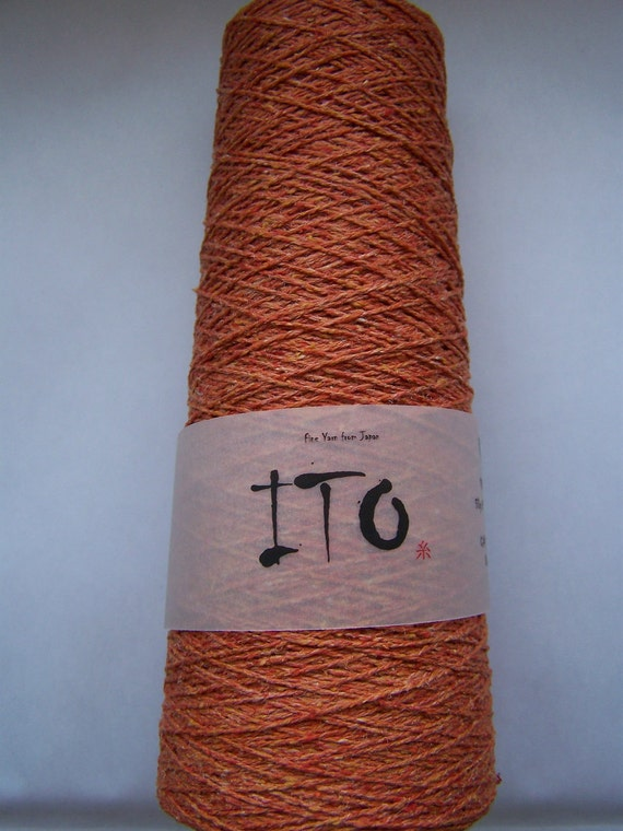 Lace yarn KINU cayenne red pure silk from ITO yarns 50g