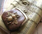 Bumble Bee Secrets - Vintage Purse Assemblage Necklace