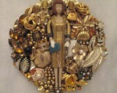 Barbie 1959 Was The Year That She Introduced Evening Splendor OOAK Vintage Jewelry Art Hand Mirror