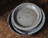 Antique Granite Ware Enamel Pie and Tart Pans
