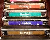 Chicago El Train Steps 20x20 Photograph on Canvas - Chicago Decor