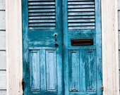 New Orleans Photography - Blue Doors in the French Quarter 8x10 Photograph