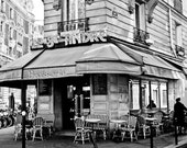 Black and White Photography, Parisian Brasserie, Paris, France, St Germain, French Kitchen Art