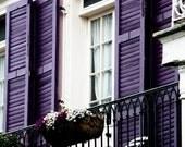Purple Balcony in the French Quarter 16x20 Fine Art Photograph