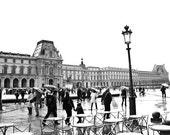 Rain at the Louvre- Paris - France 16x20 Fine Art Photograph