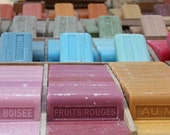 Bathroom Art, French Soap in Provence, The markets of Southern France, Savon de Marseille, Bright pink, Baby Blue, French Home Decor