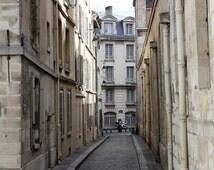 Paris Photography - Streets of Paris, cobblestone grey streets, Paris, France, french decor, paris home decor, Paris Street Wall Art