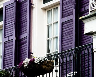 Plum Purple Balcony in the French Quarter, New Orleans Home Decor, French Wall Art, Eggplant Purple, Spring, Purple, French Quarter
