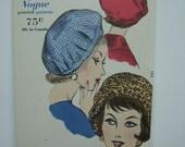 Uncut - 1960 Vogue Sally Victor Hat Pattern 5110