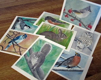 Wildlife Notecards - blank