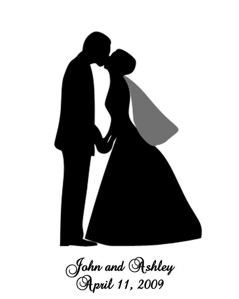 free wedding couple silhouette clip art - photo #17