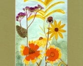 Fall Boquet - Matted Art Print From Original Watercolor Painting