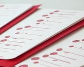 Poppy field notecards - set of four