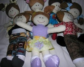 """Soft Fabric Girl Doll 15"""" Tall with Arms Extended to 11"""" Cute Original"""