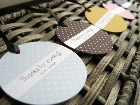 Mini Polka Dot Favor Tag - Set of 12